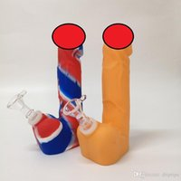 6.9 Inch Silicone Penis Dick Smoking Pipes High Quality New Portable Sexy Water Pipe With downstem glass bowl for Hookahs in stock