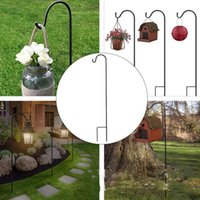 Shepherd-hooks Garden Lantern Stake Flower Pot Basket Plants Hanging Hooks Light Stand Outdoor Wedding Aisle Decor Ornament & Rails