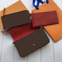 Handtasche Felicie Geldbörse Designer Luxurys Handtaschen Lady's Abendtaschen 3 in 1 Geldbörsen Umhängetasche Geschenkbox Verpackung