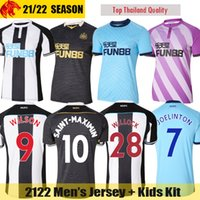 21 22 NEWCASTLE United Soccer Jerseys SAINT-MAXIMIN SHELVEY 2021 2022 WILLOCK JOELINTON Football Shirt ALMIRON RITCHIE GAYLE LASCELLES Mens Jersey Kids Kit