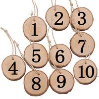 4 estilos dia dos namorados país criativo ramos ecológicos pedaço redondo peça pingente decoração home número de placa digital pendurar hwf620