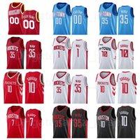 Экран печати баскетбол Christian Wood Jersey 35 John Wall 1 Eric Gordon 10 Danuel House JR 4 Edition Red Black White