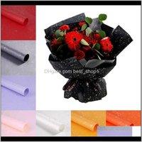Çiçekçi Kağıt 10 adetgrup Su Geçirmez Ambalaj Malzemeleri Noel Düğün Sevgililer Günü Çiçek Buket Hediye Sarma Q5P4D GANNL