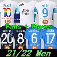 21 22 Top Marseille Soccer Jerseys Olympique DE 2021 2022 OM MILIK Maillot Foot Cucanisking Thauvin Benedetto Kamara Payet Camicie da calcio Uomo + Kid Kit Kit