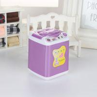 인형 집 세탁기 흰색 미니 와셔 어린이 장난감 인형 집 가구 액세서리 1844 Z2