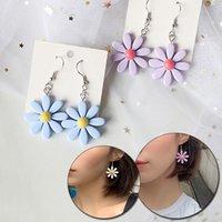 Cute Small Flowers Charm Earrings for Women Sweet Korean Daisy Sunflower Female Personality Drop Earring Gifts Jewelry