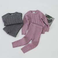 Autumn Toddler Baby Boys Girls Clothing Set Sweater + Pants Infant Boys Knit Suit Thick Warm Winter Baby Girls Clothes1 2128 Q2