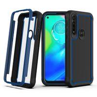 Motorola Moto G 빠른 G8 플러스 매크로 스타일러스 E 2020 E7 파워 플레이 Shockproof 커버를위한 투명한 명확한 아크릴 러그