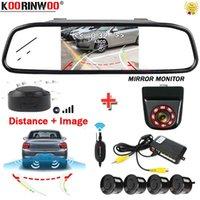 Auto View View Telecamere Sensori di parcheggio Koorinwoo Kit sensore wireless Telecamera dinamica Telecamera ampio angolo auto-rilevatore di auto Vedi distanza su monitor cieco s