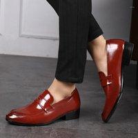 Slip Dress Office Shoes Men Classic Luxury Plus Size Formal Italian Brand Loafers Mens1