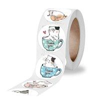 2.5 سنتيمتر شكرا لك ملصقات حزب الديكور لطيف الحيوان الطباعة ختم تسميات هدية التعبئة والتغليف ملصق مكتب القرطاسية اللوازم CCF6073