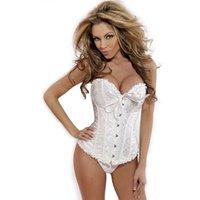 Mulheres sexy cetim espartilho brocado bustier bustier top lace up back lingerie bodyshaper shapewear cintura exercício espartilhos s ~ 6xl lz1807