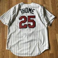 Men Women kids Jim Thome 25 White Pinstripe Baseball Jersey Professional Custom Jerseys XS-5XL 6XL