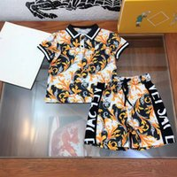 2021ss Designers Clothes Kids sets Vers and ace boys summer cotton t-shirto+shorts Letter printing great quality children suit sport 110-150 a12