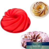 Stor Spiral Form Mat Kvalitet Silikon Bundt Cake Mögel Pan 3d Fläckt Kaka Mögel Form Bread Baker Bakverk Verktyg Bakeware