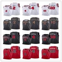 Demar 10 Derozan Alex 4 Caruso 2 Lonzo Ball كرة السلة جيرسي 2021 التجارة أصيلة الطبعة مدينة الفانيلة الأبيض الأحمر الأسود