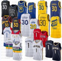 Jersey de basketball pour hommes # 1 Williamson Stephen 30 chemise curry cousue taille taille s-2xl