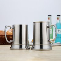 Mugs 304 Stainless Steel Double Flame Mug Beer Cocktail Bar Supplies Drinking Set