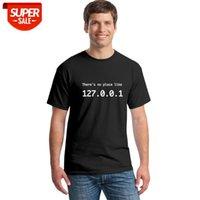 2018 забавный IP-адрес футболка мужская лето с коротким рукавом хлопок нет места, как 127.0.0.1 Компьютерная комбинация комедия комедия Thetws #75
