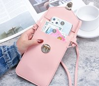 Universal Crossbody Strap Adjustable Neck Lanyard Phone Cases for iPhone 12 11 Pro Max Mini XR XS X 8 7 Plus Samsung S21 Note20 Ultra Huawei LG Moto PU Leather Cover
