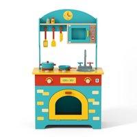 الولايات المتحدة الأسهم الأطفال أثاث خشبي كبير الباستيل مسرحية المطبخ مع تحول الأبواب الرؤية، هدية للأعمار 3 عيد الميلاد، حفلة عيد ميلاد