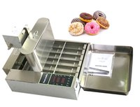 Ticari Paslanmaz Çelik Elektrikli Otomatik Çörek Makinesi Çörek Fritöz Altı / Dört Satır Mini Çörekler Yapma Makinesi Snack Makineleri Kızarmış Yiyecek