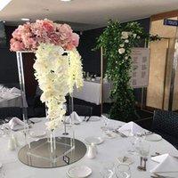12pcs) alto chiaro quadrato quadrato in acrilico cristallo chandelier weddingtop da tavolo da tavolo supporto portaspettamento centrapiece decorazione del partito decorativo