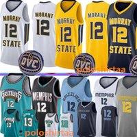 JA 12 Morant Basketball Jersey 2020 19 NCAA Mens University Weste Hemd Stickerei Stickerei College Jerseys blau schwarz weiß gelb