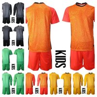 2021 Juventude manga longa equipe nacional 1 Hugo Lloris Goalie Futebol Jerseys Set Kids Goleiro Gk 16 Steve Mandanda 23 Areola Kit de Camisa de Futebol