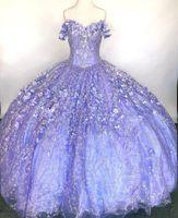 Elegant robe de bal Quinceanera Dresses 2021 Appliqued Off the Shoulder Sweet 16 Dress Pageant Gowns vestidos 15 años