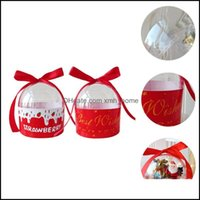 Wrap Event Supplies Home & Garden2Pcs Gift Packaging Festive Party Favor Box Candy Biscuit Storage Case Drop Delivery 2021 4Pi9J