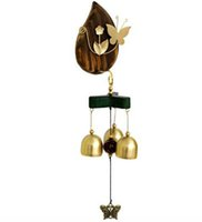 Arts and Crafts Wholesale Copper Bird Nest Wind Chimes Antique House Windchimes Luxurious Retro Home Wall Yard Garden Hanging Decoration Gift DN0H