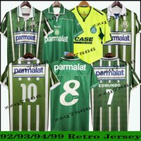 1992 1993 1994 Palmeiras R. Carlos Edmundo Rétro Mens Soccer Jerseys 1999 2010 Zinho Rivaldo Evair Ewerthon Chemises de football Uniformes Camisas de Futebol