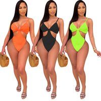 swimsuits Plus size color one piece swimwear sexy swimsuit fashion hollow out bathing suit onesie bikini bodycon summer Women candy