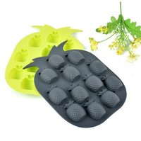 Ice Cream Tools High quality Brand New Ice Maker Mould Bar Party Drink Pineapple Shape Ice Cube Freeze Mold tray CCF6536