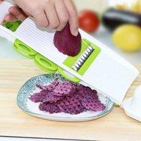 Фруктовые овощные инструменты Многофункциональный мандолин Slicer кухонный инструмент резак с 5 сменными лезвиями из нержавеющей стали бесплатно BGP4