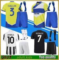 Homme et enfants 2020 juventus Home Away 4ème Soccer Jerseys Camiseta de Fútbol 2020 2021 Race humaine Quatrième chemise de football Hommes Kits d'enfants + chaussettes