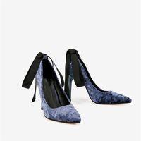 Dress Shoes Marlisasa Women Fashion Navy Blue Pointed Toe High Quality Slip On Heel Ladies Black Pumps Sapato Feminino H5900