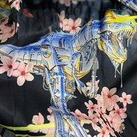 2021SS 봄과 여름 새로운 고급 코튼 인쇄 반팔 라운드 넥 패널 티셔츠 크기 : M-L-XL-XXL-XXXXL 색상 : 흑백 F354