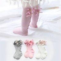 Lawadka Algodão Criança Princesa Meninas Meias Crianças Joelho Alto Meias Beleza Perna Baby Warmers New Born baby Girl Sock 912 x2