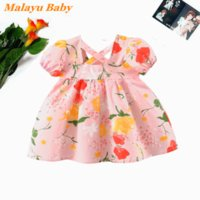 Girl's Dresses Malayu Baby Infant Girl Dress 2021 Summer Clothes Cute Cotton Flowers Princess Costume 0-2Years Born Vestidos