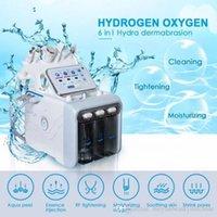 المحمولة 6in1 العلاج الوجه H2O2 هيدرا أكوا المياه الجلد قشر جلدي التنظيف العميق rf آلة إزالة التجاعيد الحيوي بالموجات فوق الصوتية