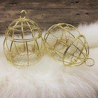 إمدادات الزفاف الذهب مربع الأوروبي الرومانسية الحديد المطاوع قفص العصافير صناديق الحلوى RH4453