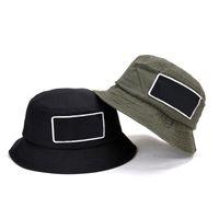 D101 marke sommer baumwolle fishermans hut sonne schützer breiter rand hüte für outdoor reise sport basin kappe grün schwarz 2 farben