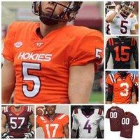Personalizado Virginia Tech Hokies Football Jersey NCAA College 35 Keshwn King 4 Quincy Patterson II 22 Terrell Edmunds 49 Tremaine Edmunds 17 Kyle Fuller 5 Tyrode Taylor