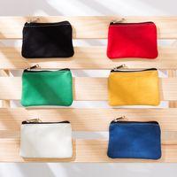 Colorful Pure Cotton Canvas Zipper Bag Cotton Canvas Coin Purse Cotton Cosmetic Bags Makeup Bags Key Storage Bag