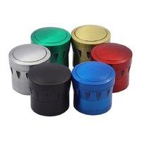 Moedores de Drum Moedor de Tabaco 4 Camada 43mm Diâmetro Acessórios para Fumar Erva Seco Crusher Spice Zinc linders T2I51863