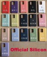 Official Original Liquid Silicon Case Cellphone Cases For Samsung S8 S9 S10 S20 S21 Plus NOTE 20 Erasable Durable Conque Logo Soft Candy Cover Funda