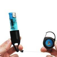 Silikon Feuerzeug Schutzleine Fallhülle Halter Einziehbare Keychain Tragbare Innovative Feuerzeughalter Raucher Rohrwerkzeuge HWF6419