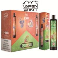 Genuine Vapen 3in1 Disposable E Cigarette Kit 3000 Puffs Bottom Switch 3 in 1 Vape Pen Stick Ecig Pod Device